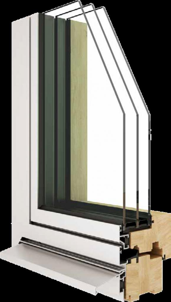 Geneva Aluminium wood window